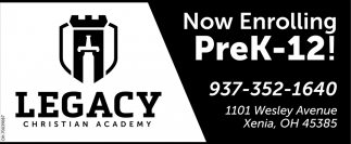 Now Enrolling Prek-12!