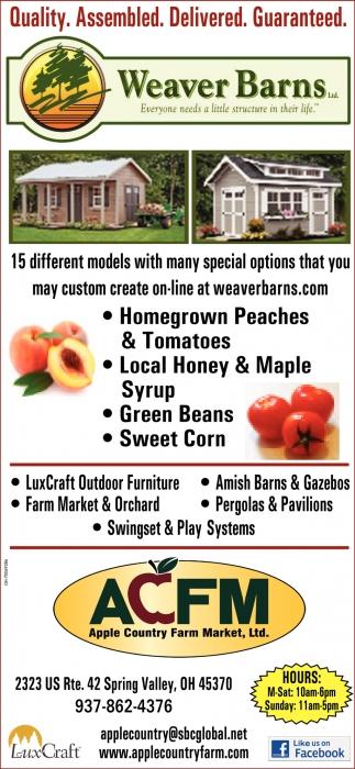 Amish Sheds, Barns, Garages, Homes, Cabins