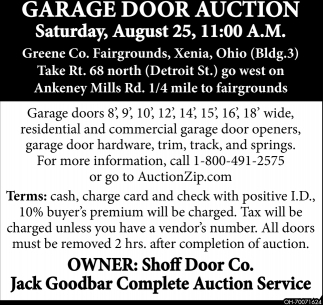 Garage Door Auction