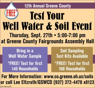 Test Your Well Water & Soil Event