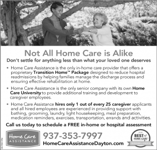 Not All Home Care is Alike