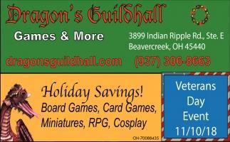 Holiday Savings!