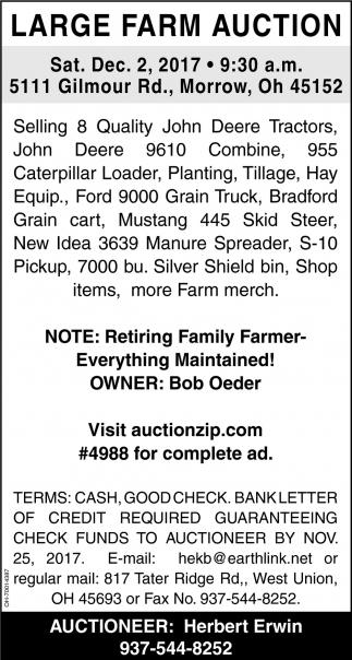 Large Farm Auction