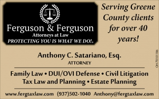 Family Law, DUI/OVI Defense, Civil Litigation, Tax Law and Planning