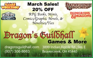 March Sales! 20% Off