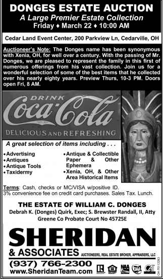 Donges Estate Auction
