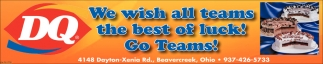 We wish all teams the best of luck! Go teams!