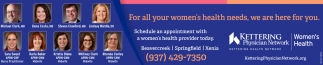 For all your women's health needs, we are here for you