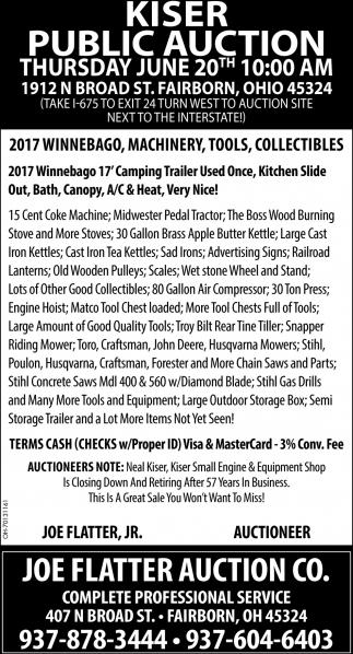 Kiser Public Auction
