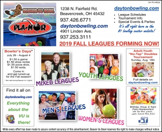 2019 Fall Leagues Forming Now!