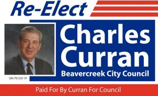 Re-Elect Charles Curran Beavercreek City Council