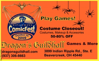 Play Games! - Costume Closeout!