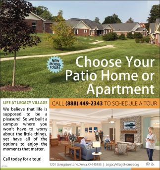 Choose Your Patio Home or Apartment