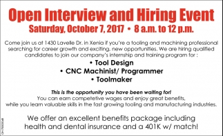 Open Interview and Hiring Event