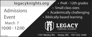 Admissions Event - March 7